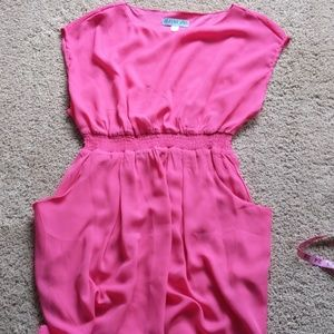 Bright pink dress